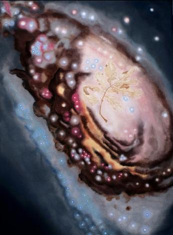 """""""Evil Eye (ou galaxie Yin Yang M64) et feuilles de Chêne"""""""